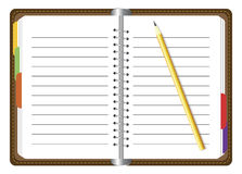 Organizer with pencil Stock Photo