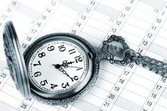 Organizer and pocket watch Stock Photos
