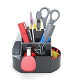 Organizer with stationery Stock Photo
