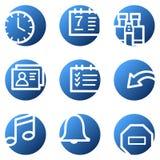 Organizer web icons Stock Image
