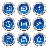 Organizer web icons. Web icons, blue electronics buttons series Royalty Free Stock Images