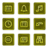 Organizer web icons, electronics card series Stock Photo
