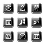 Organizer web icons, glossy buttons series Royalty Free Stock Images