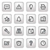 Organizer web icons on gray buttons. Stock Photography