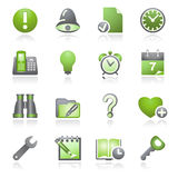Organizer web icons. Gray and green series. Royalty Free Stock Image