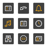 Organizer web icons, grey buttons series Stock Photography
