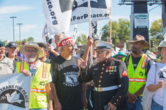 Organizers at Veterans For Peace Protest March Stock Photos