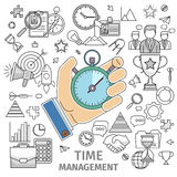 Organizes working time Stock Photo