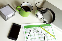 Organizing appointments Royalty Free Stock Photography