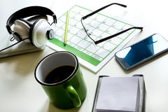 Organizing appointments Stock Image