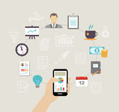 Organizing a business meeting Stock Images