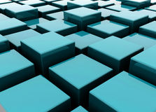 Organizing cubes Royalty Free Stock Image