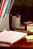 Organizing the desk Stock Photo