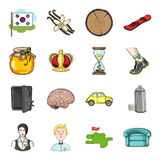 Organizing, trade, medicine and other web icon in cartoon style. tourism, bank, travel icons in set collection. Stock Photography