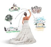 Organizing a wedding Stock Image