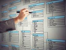 Organizuje bazę danych Obraz Stock