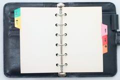 Organizzatore in bianco isolato Fotografia Stock