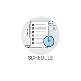 Organizzatore Calendar Icon di programma di affari Fotografie Stock