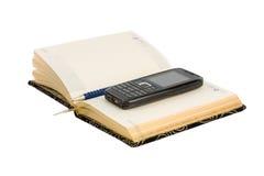 Organizzatore con la matita ed il telefono Immagini Stock