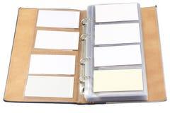 Organizzatore della scheda di chiamata Fotografie Stock Libere da Diritti