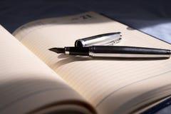 Organizzatore e penna di affari Fotografia Stock Libera da Diritti