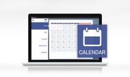 Organizzatore personale Calendar Concept di ricordo di ordine del giorno di appuntamento Fotografia Stock