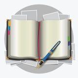 Organizzatore personale con la penna. royalty illustrazione gratis