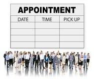 Organizzatore Urgency Concept della gestione dell'appunto di programma appuntamenti Fotografia Stock Libera da Diritti
