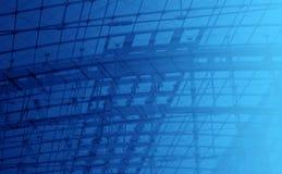 Organizzazione della priorità bassa blu Fotografie Stock