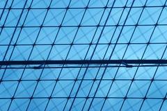 Organizzazione della priorità bassa blu Fotografia Stock