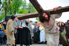 Organizzazione della strada di Gesù sulla montagna Fotografia Stock Libera da Diritti