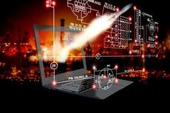 Organizzazione della tecnologia cosmica Fotografie Stock Libere da Diritti