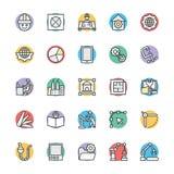 Organizzazione delle icone fresche 3 di vettore illustrazione vettoriale