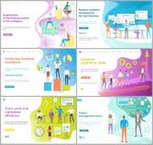 Organizzazione di lavoro dell'insieme trattato della pagina del sito Web royalty illustrazione gratis