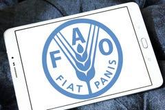 Organizzazione per l'alimentazione e l'agricoltura, logo della FAO Fotografia Stock