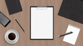 Organizzazione realistica del posto di lavoro Immagini Stock