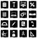Organizzazione semplicemente delle icone Immagini Stock Libere da Diritti