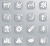 Organizzazione semplicemente delle icone Fotografia Stock