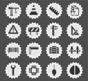 Organizzazione semplicemente delle icone Immagini Stock