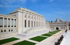 Organizzazioni delle nazioni unite che costruiscono nella città di Ginevra Fotografia Stock Libera da Diritti