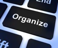 Organizzi il tasto del computer che mostra il controllo online immagini stock libere da diritti
