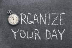 Organizzi il vostro giorno fotografie stock