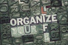 Organizzi la vostra vita incontrata immagini stock libere da diritti