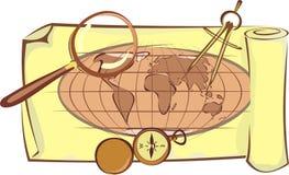 Organizzi un viaggio Illustrazione Vettoriale
