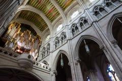 Organo in Almudena Cathedral, Madrid Immagini Stock Libere da Diritti
