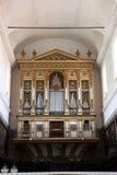 Organo antico, dentro una chiesa Immagine Stock Libera da Diritti