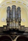 Organo in chiesa collegiale di St Denis di Liegi Immagini Stock Libere da Diritti