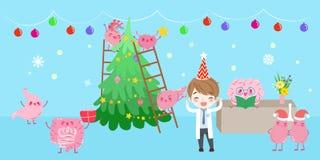 Organo con il Buon Natale illustrazione di stock