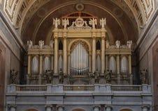 Organo della basilica di Esztergom, Esztergom, Ungheria fotografia stock