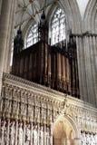 Organo della cattedrale di York, Regno Unito Immagine Stock